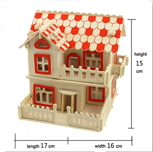 Thinkmax 3D Three-Dimensional Puzzle Wooden House Model,Children'S Educational Toys(European House) front-266274