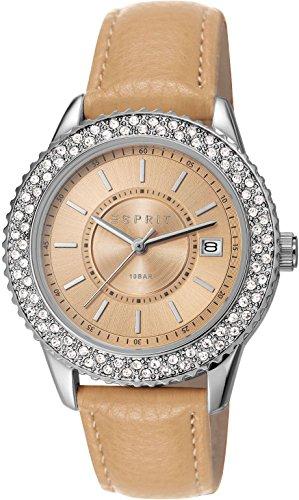 Esprit Marin Glints ES106212011 - Reloj para mujeres, correa de cuero color beige