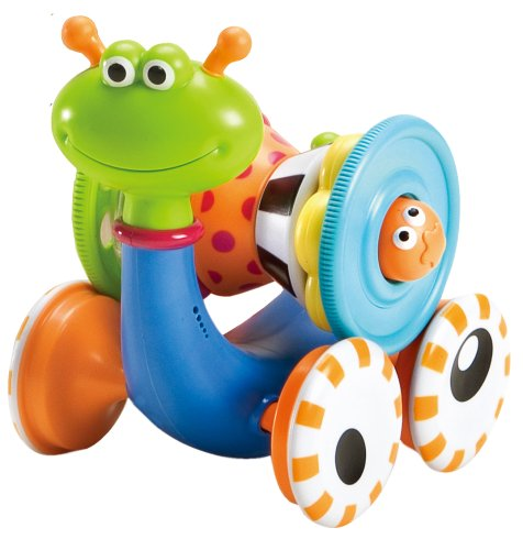 Baby Push Toy - Musical Rolling Crawl N' Go Snail - With 5 Pc Activity Stackertoy