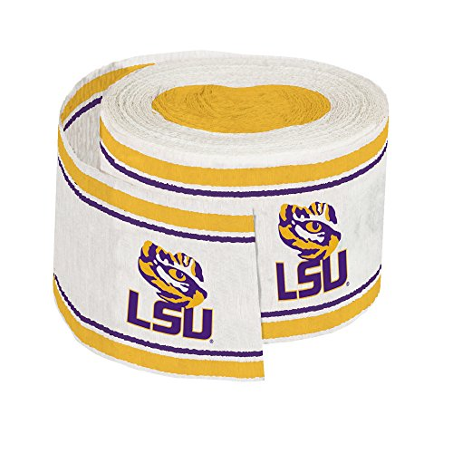 Creative Converting Crepe Louisiana State University Streamer, 30', Purple/Gold