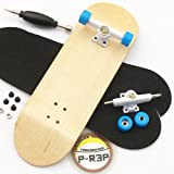 Peoples Republic Maple Complete Wooden Fingerboard w Nuts Trucks - Basic Bearing Wheels