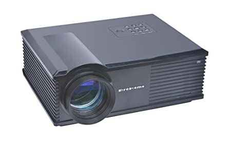 niceEshop(TM) PH580 Professionnelle Cinéma HD Maison Cinéma Projecteur LCD (noir, Fiche Européenne)
