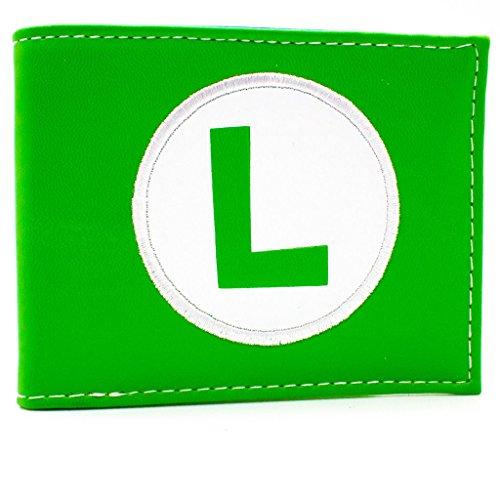 Nintendo Super Mario Luigi Cappello Logo verde portafoglio