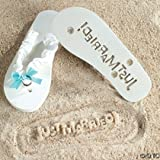 """Just Married"" Flip Flops Stamp Your Message in the Sand! (5/6)"