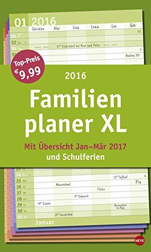 Familienplaner XL Basic 2016, Buch