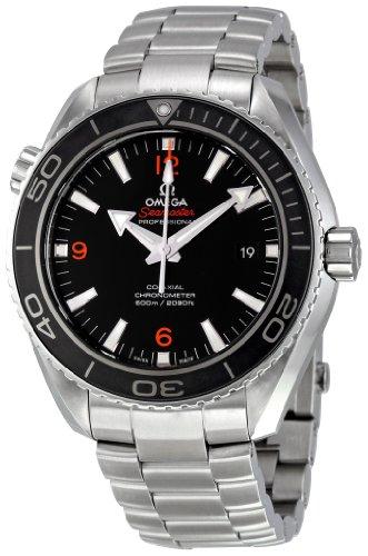 De los hombres Omega 232,30,46,21,01,003 Planet Ocean Big del tamaño de la esfera de color negro reloj de pulsera para mujer
