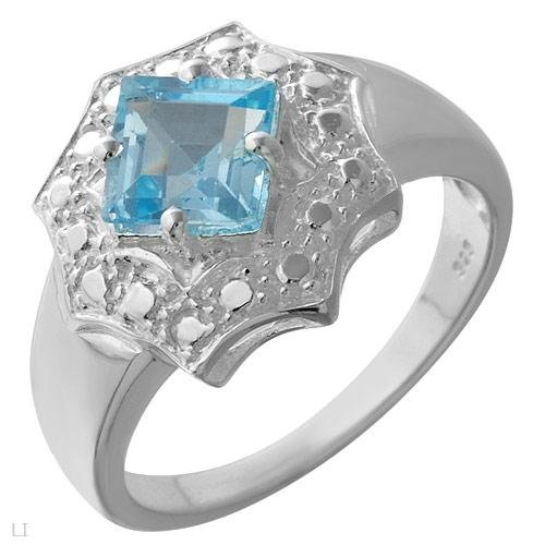 Stylish Ring With 1.40ctw Genuine Topaz Made in 925 Sterling silver- Size 7 - ** compare: $139.00