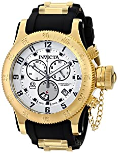 Invicta Russian Diver 15561 52mm Stainless Steel Case Black Polyurethane flame fusion Men's Watch
