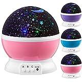 Next Generation 360° LED Starlight, Sternenlicht Projektor Sternen Einschlafhilfe Baby Nachtlicht für Kinder - pink