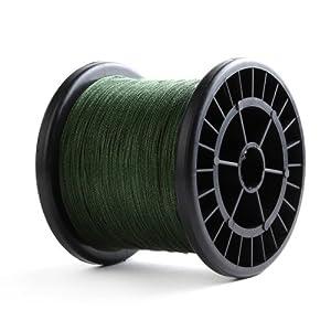 Yesurprise 500m Hilo Trenzado Para Pesca Sedal Para Pesca 100% PE(Color Verde 0.5mm 130LB 58.9KG )
