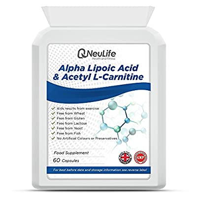Alpha Lipoic Acid & Acetyl L-Carnitine - 60 Capsules - by Neulife Health and Fitness