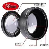 NEEWER ワイドレンズ/広角レンズ+マクロレンズ 0.45x カメラ用 (58mm)