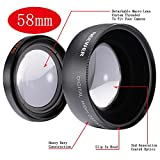 Neewer� 58mm 0.45x Wide Angle Lens Macro for Canon Digital EOS Rebel T1i, T2i, T3, T3i, T4i, T5i, SL1, EOS 60D, EOS 70D, 50D, 40D, 30D, EOS 5D, EOS 1D, EOS 5D Mark 2, EOS D Digital SLR Cameras Which Has Any Of These (18-55mm, 55-250mm, 100-300mm, 18-250mm, 70-300mm, 75-300mm, 50mm 1.4 , 55-200mm. 24mm) Canon Lenses (Lens Bag included) ~ Neewer