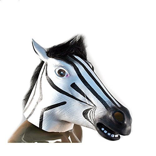 NonEcho Halloween Masks for Men Latex Horse Face Mask
