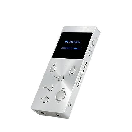 XDUOO Mini X3 Haute Fidélité Lecteur de Musique JZ4760B Chip 24bit 192khz/HD Format Lecteur Audio Sans Perte Lecteur de Musique MP3 WMA Argent Supporte Abeille FLAC WAV DSD Format D'Audio