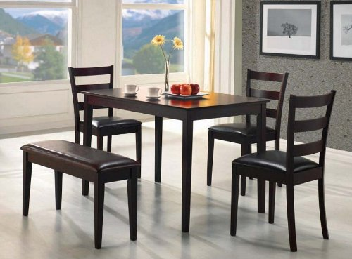 Dining Table Chairs Cappuccino Finish