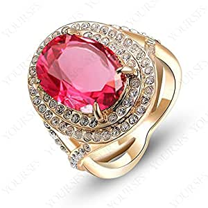 Amazon.com: Ayyara Gem anel formatura vermelho ring graduation 18K
