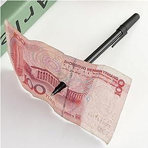 Black Trick Tool Penetration Pen Through Paper Money Close Up Stage Magic-