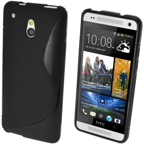 iGadgitz HTC One S-Line TPU Case (HTC One Mini M4, Schwarz)