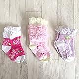 Lote de 3 pares de calcetines antideslizantes, para beb� modelo Girly
