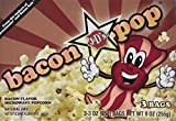 J&D's BaconPOP, Bacon Flavor Microwave Popcorn, 9 oz Boxes in a Gift Box (Pack of 2)