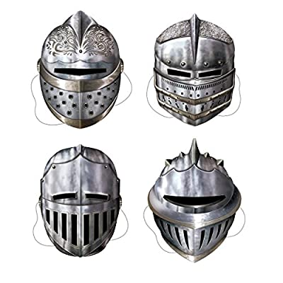 Club Pack of 12 Noble Knight In Shining Armor Novelty Party Masks