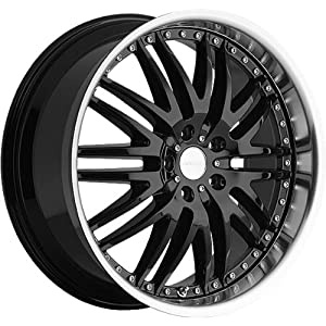 Menzari M-Sport 18×9.5 Black Wheel / Rim 5×4.5 with a 35mm Offset and a 83.70 Hub Bore. Partnumber Z04895545+35GBLM