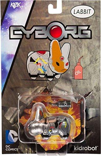 "Cyborg ~2.5"" Mini-Figure: Kidrobot x DC Universe Labbit Series"