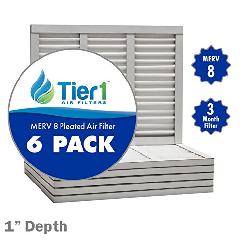 12x30x1 Dust & Pollen Merv 8 Pleated Replacement AC Furnace Air Filter (6 Pack)
