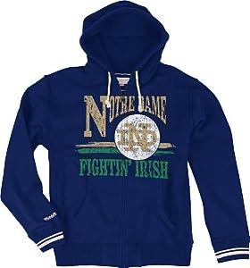 Notre Dame Fighting Irish Mitchell & Ness Start of Season Full Zip Sweatshirt by Mitchell & Ness