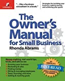img - for The Owner's Manual for Small Business Paperback December 1, 2005 book / textbook / text book