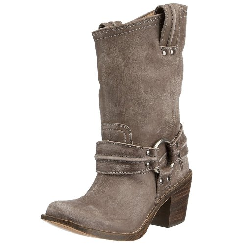 Frye Women's Carmen Harness Short Boot Grey 77376AMY11 9 UK D
