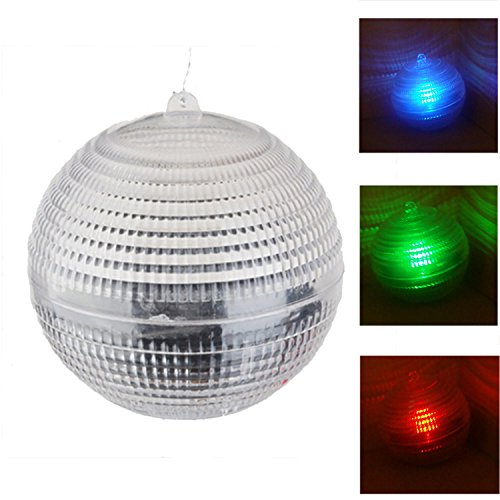 Colorful Waterproof LED Solar Light Underwater Pool Lighting Floating Pond Lamp