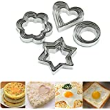 HeroNeo® 20pc Stainless Star Heart Flower Cookie Fruit Cutter Sporting Shape Biscuit Mold