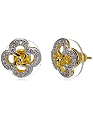Sia Art Jewellery Stud Earrings For Women (Golden) (AZ2611)