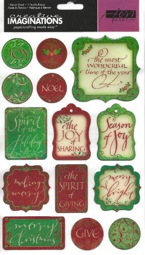 Season of Joy Christmas Epoxy Scrapbook Stickers