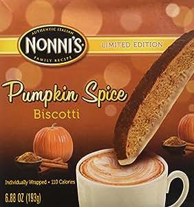 Amazon.com: Nonnis PUMPKIN SPICE Biscotti Limited Edition Individually