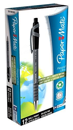 papermate-s0190393-flexgrip-ultra-penna-a-sfera-a-scatto-1-mm-confezione-da-12-nero