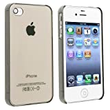 eForCity Slim Fit Snap-on Case compatible with Apple® iPhone® 4 / 4S, Crystal Clear Smoke