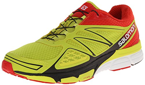Salomon X-Scream 3D, Scarpe sportive, Uomo, Amarillo (gecko green/bright red/black), 42