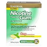 Good Sense Nicotine Polacrilex Gum, 4mg (nicotine), Cool Mint 100-count