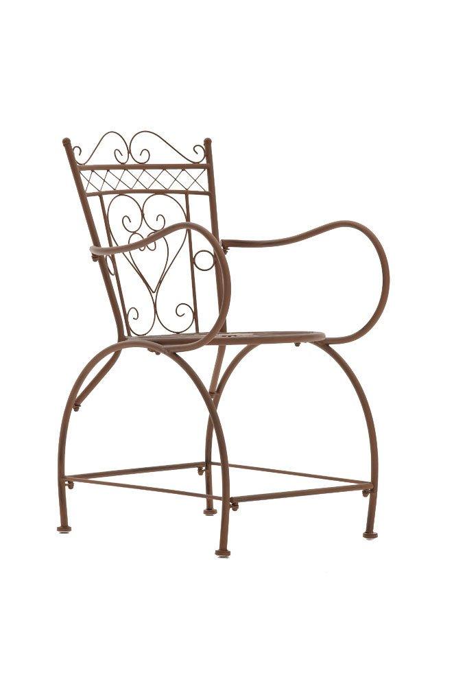 CLP nostalgischer Stuhl SHEELA aus Eisen (aus bis zu 6 Farben wählen) antik braun