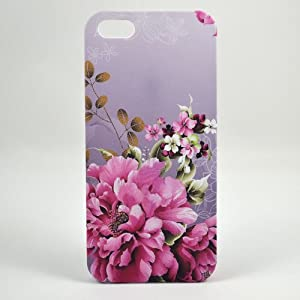 ROKE(TM) Iphone Case 5 Romantic Iphone Case Romantic Iphone Case Iphone 5 Phone Cover Flower Case
