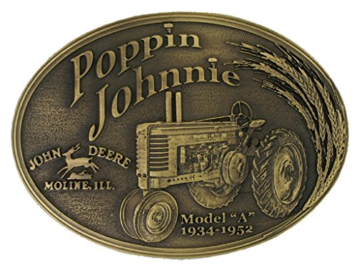 Montana Silversmiths John Deere Modelofpoppin Johnnie Brass Heritage Attitude Belt Buckle