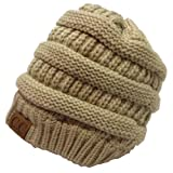 Unisex Over-sized Trendy Slouchy Beanie Hat - Taupe