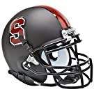 STANFORD CARDINAL NCAA Schutt Authentic MINI Football Helmet (MATTE BLACK)