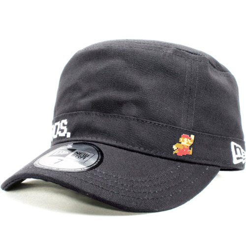 Super Mario Bros.×New Era Work Cap WM01 スーパーマリオブラザーズ×ニューエラ ワークキャップ WM01 マリオ ブラック スノーホワイト
