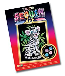 KSG Arts and Crafts Junior Sequin Art 0906 White Tiger Cub Picture Kit