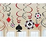 Casino Party - 12 Spiralhänger