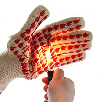 Barbeque Grill Smoker Oven Heat Protection Silicone Gloves (Pack of 2)